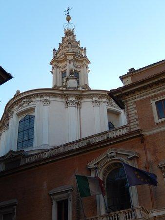 Chiesa di Sant'Ivo alla Sapienza: sant'ivo alla sapienza - retro 1