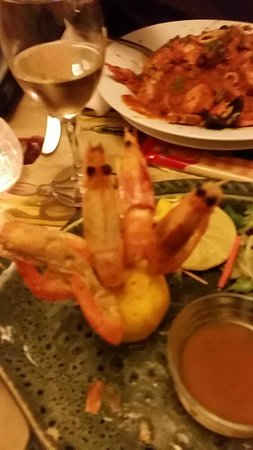 king prawns with garlic butter (shell on) amazing