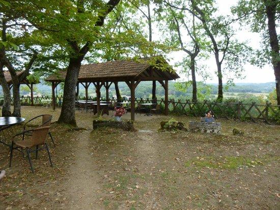 Auberge de Castel Merle : Terrasse panoramique