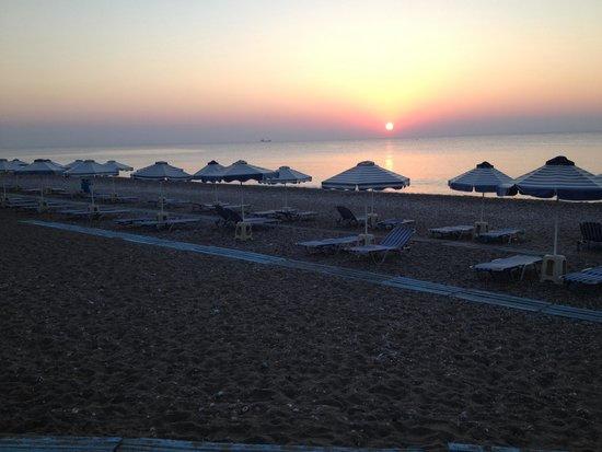 Afandou Bay Resort Suites: Afandou Beach Sunset