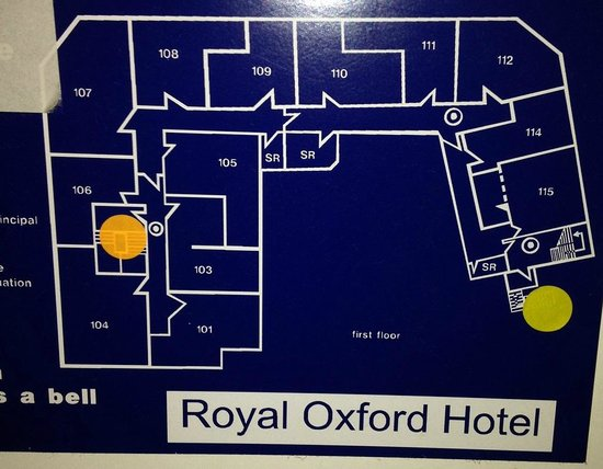 Royal Oxford Hotel : Floor plan for first floor