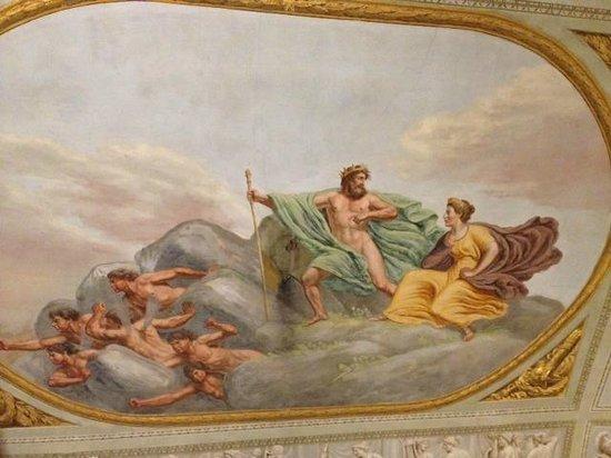 Burchianti: Ceiling fresco in room #1