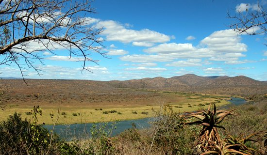 Mvubu River Lodge: view from our room