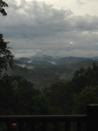 Mountain Top Cabin Rentals: Right after rainstorm - from Grand View Lodge