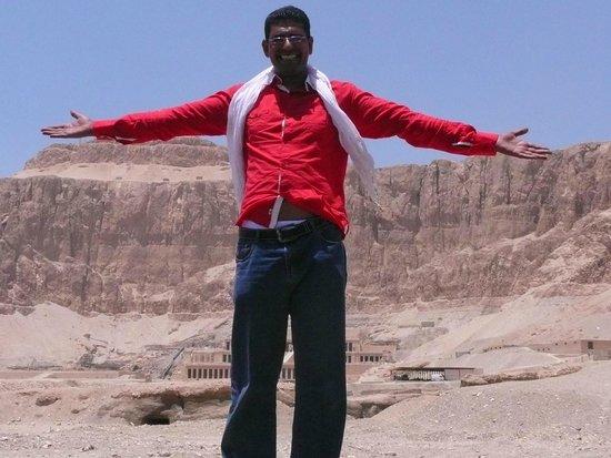 Egypt Tours Portal Day Trips: Wael, our guide at Hatshepsut