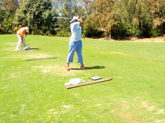 Ile Aux Cerfs Golf Club: Taking a swing