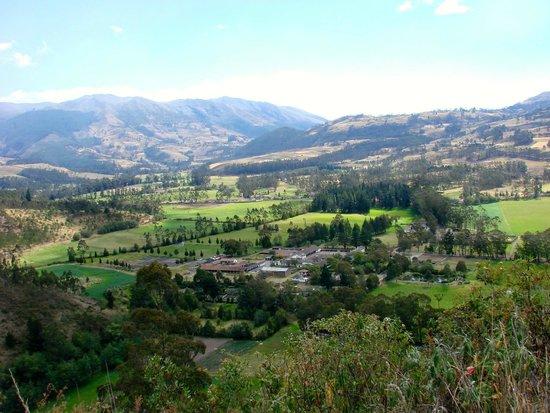 Hacienda Zuleta : Vista de pájaro de la Hacienda