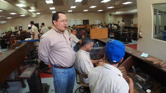 La Aurora Cigar Factory: This employee has been rolling cigars for over 25 years