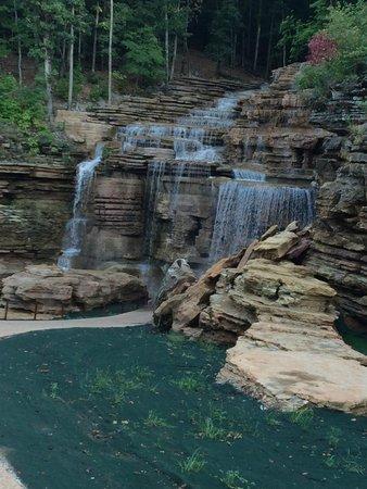 waterfall on golf cart tour