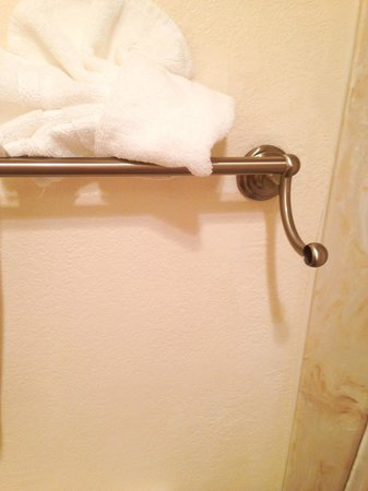 Radisson Hotel Colorado Springs Airport: towel rod fell right off the wall