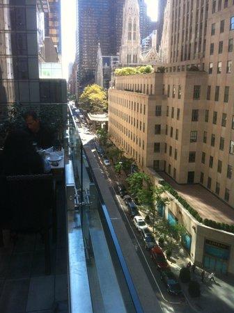 Club Quarters Hotel, opposite Rockefeller Center: Terrace view looking left