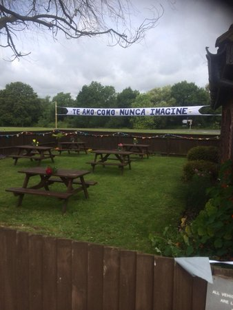 The George on The Green: Wedding incorporating the beer garden