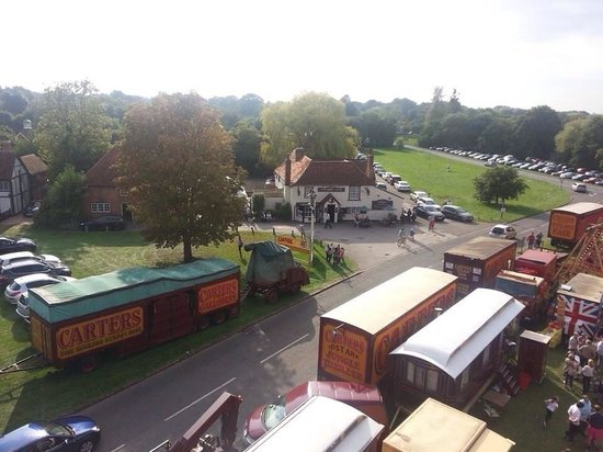 The George on The Green: Ariel view on fair day