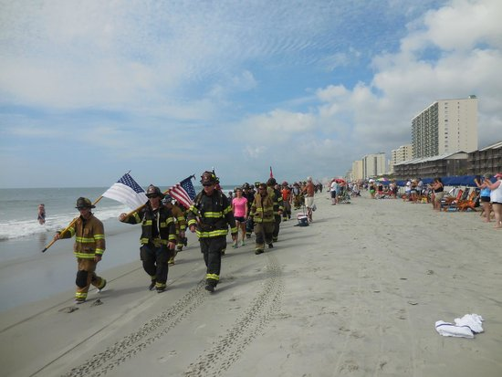 Avista Resort Ocean Front at 11 a. m.  Annual Ocean Drive 9-11 Firefighter-Rescue Memorial March