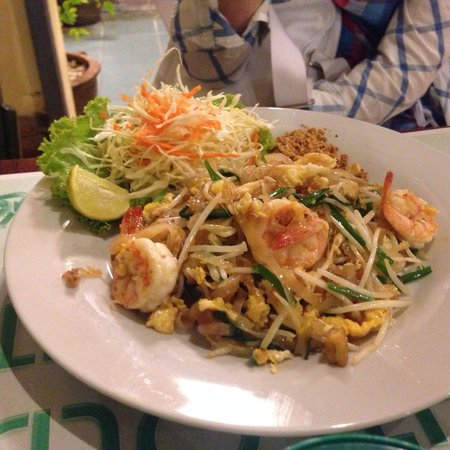 Eightfold Restaurant: 最喜欢吃的面条,老虎虾新鲜