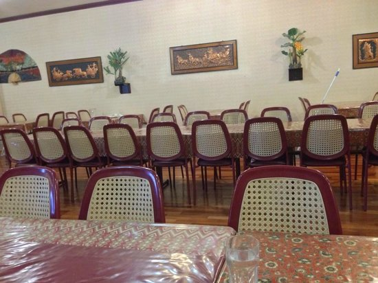 Indonesia Indah Restaurant: The seating arrangements of the restaurant. II.