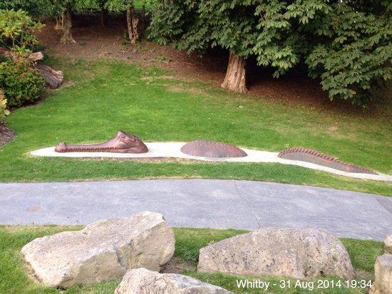 Pannett Park: Croc art?