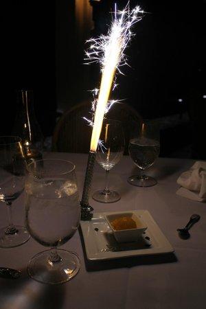 Oceana: Our complimentary celebratory dessert