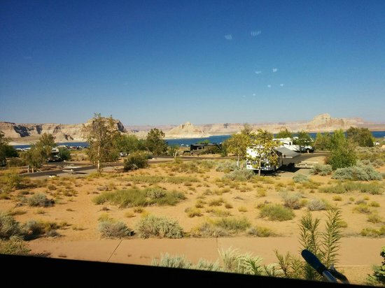 Wahweap RV & Campground: View from our rear window while camping.