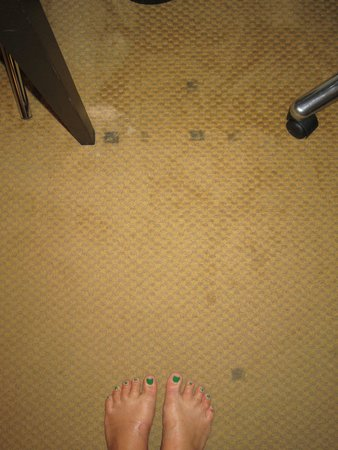 Crowne Plaza Padova: dirty carpet