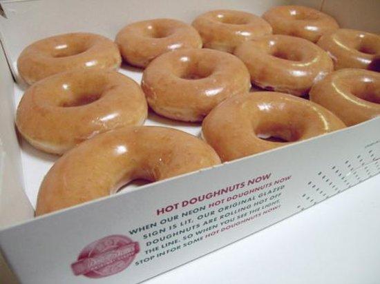 Krispy Kreme Doughnuts: dozen fresh HOT doughnuts