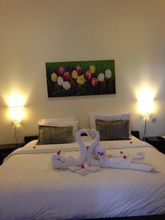 Samba Villas: Warm clean fragrant spaciouus room..