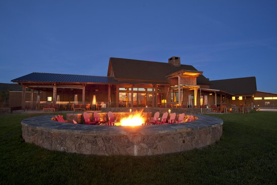 Range Restaurant and Bar: The large fire pit is perfect for after dinner drinks and house-made s'mores.