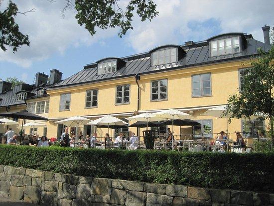 Hotel Skeppsholmen: The hotel terrace