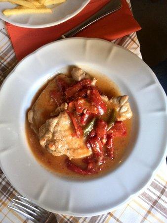 Tenuta Montecorbo: filetto di maiale al sugo di papaccelle