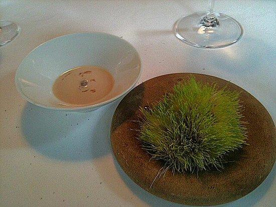 Mugaritz: Highland grass with peanut cream