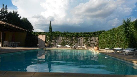Le Mas de l'Olivier : la piscine. .
