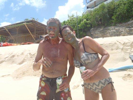 Simpson Bay, St. Martin/St. Maarten: Mud bath too!