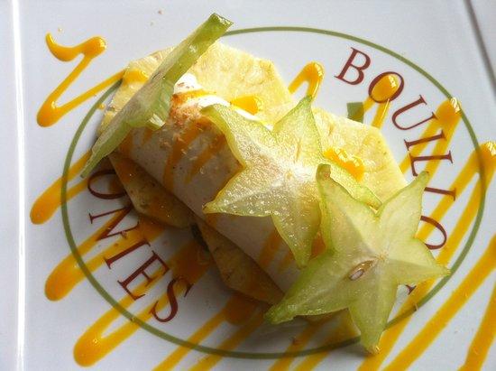 Bouillon des Colonies : Blanc manger coulis mangue