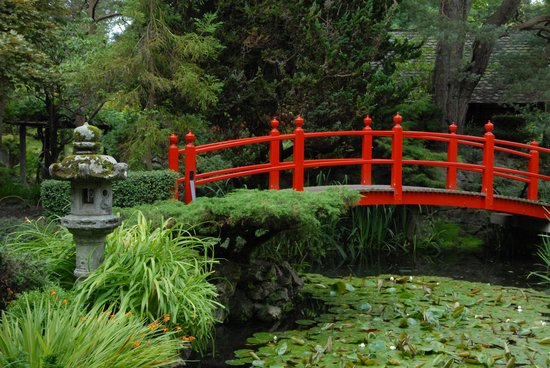 irish national stud gardens japanese garden red bridge - Red Japanese Garden Bridge