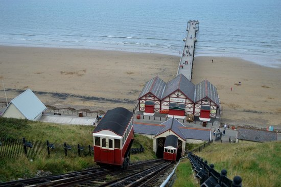 Saltburn Cliff Lift: view from the cliff