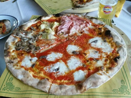Pizzeria Petrarca Abano: panaro Bufala ed acciughe