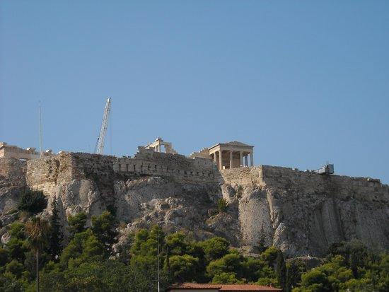 Adrian Hotel: vista sull'Acropoli dalla Terrazza