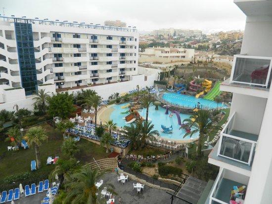 Hotel Los Patos Park: Parque acuatico con toboganes y barco pirata.