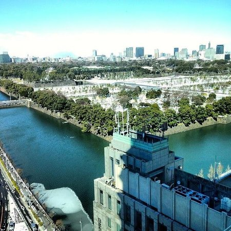 The Peninsula Tokyo: view from the swimming pool