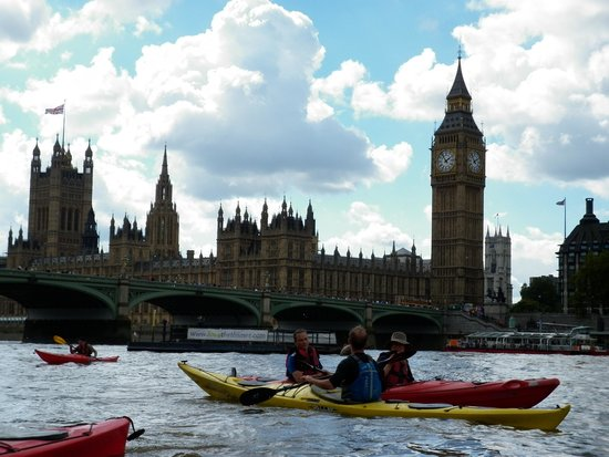 Kayaking London: No prizes for guessing where this is !