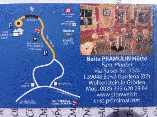 Baita Pramulin: mappa