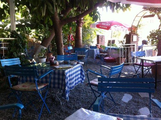 Beautiful garden at Dalyan Iz cafe