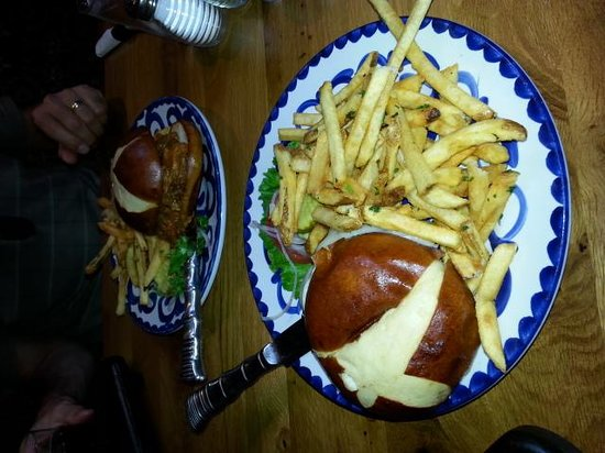 Exile Brewing Company: Fillet sandwich with gruyere cheese