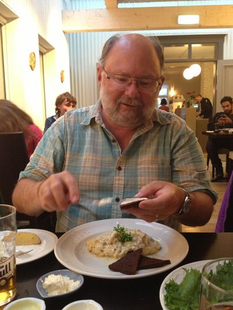 The Settlement Centre Restaurant: mashed whitefish & rye bread