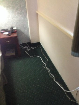 The Marlborough Hotel: cords everywhere