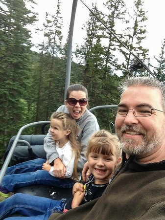 Winter Park Resort: Family on the scenic chair lift, wear a jacket even in summer!