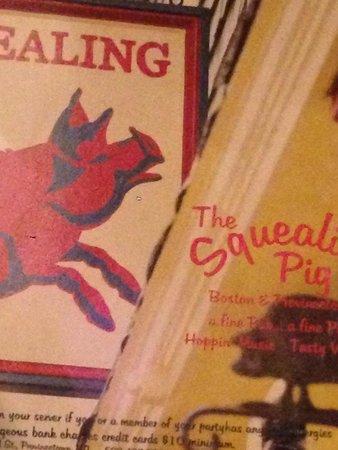 Squealing Pig: The menu