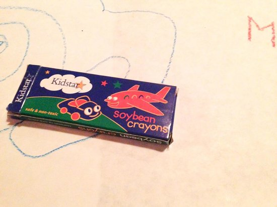 Bob's Place: apparenltly every restaurant in CO uses the same soy based crayons