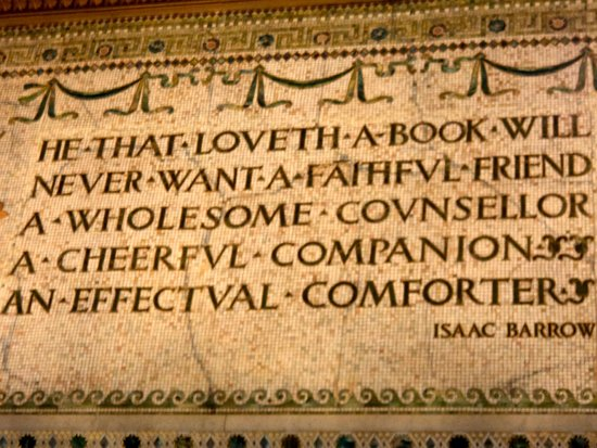 Chicago Cultural Center : One of the inscriptions