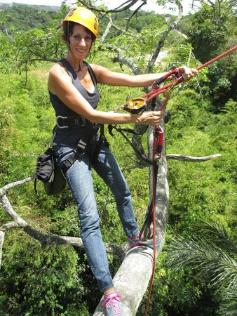 Amazon Tree Climbing : Marcia at 150'